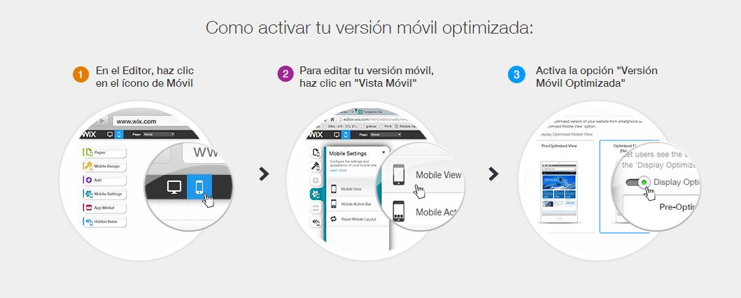 Instrucciones de cómo instalar la visión móvil optimizada