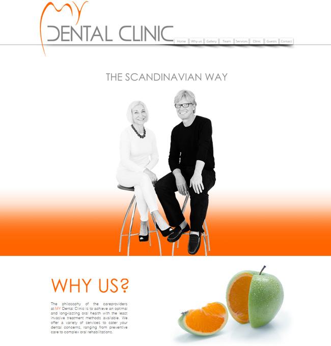 Captura de Pantalla del Sitio Wix de Dental Clinic en Scandinavia