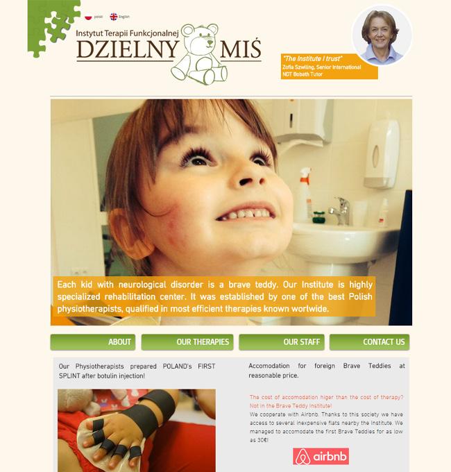 Screenshot de la pagina web de Dzielny Mis