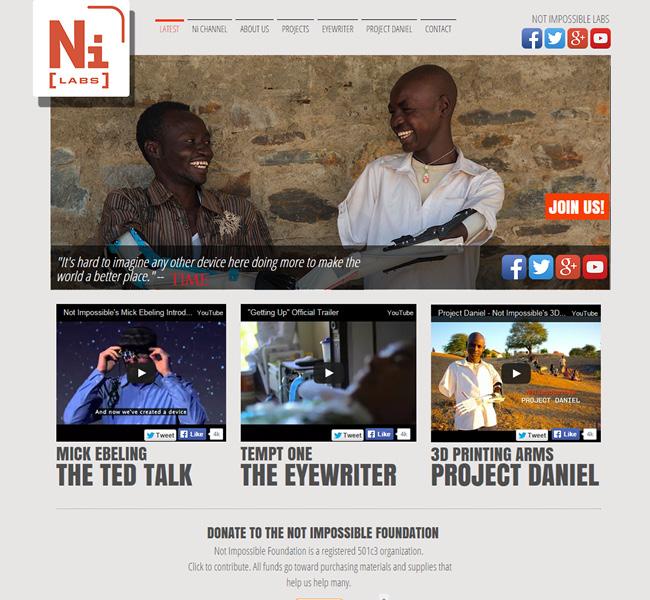 Captura de Pantalla del Sitio Wix de Ni Labs