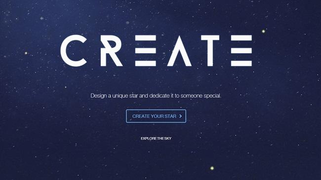 ¿Quieres crear y dedicar una estrella? ¡con Wix es posible!