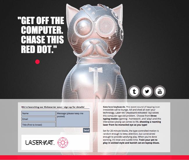 Captura de Pantalla del Sitio Web Laser Kat