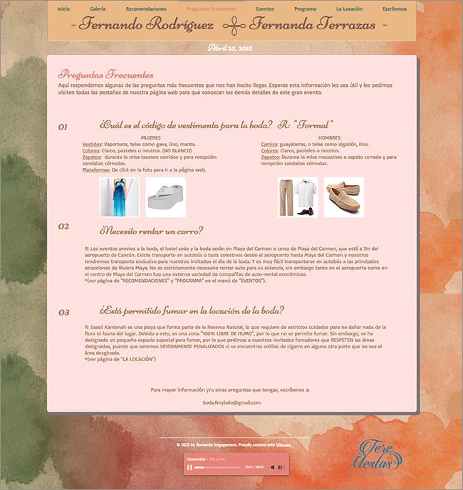 Fernanda y Fernando FAQ 1