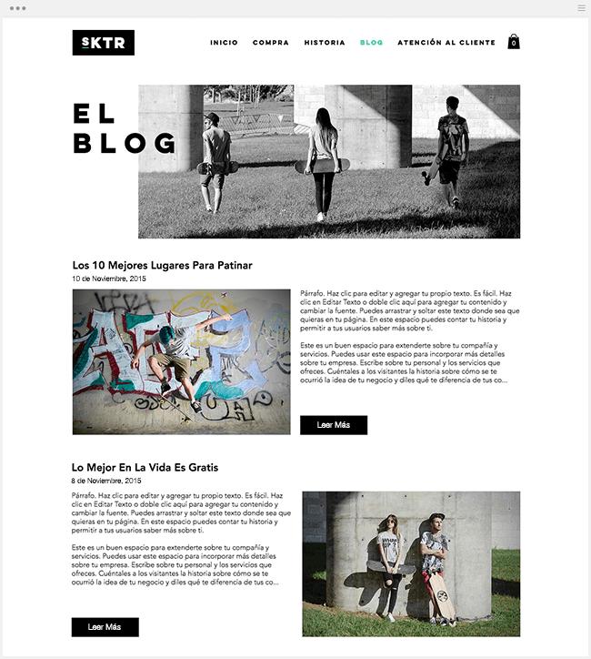 Agrega un Blog