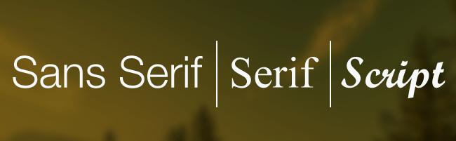 ¿Serif o Sans Serif?