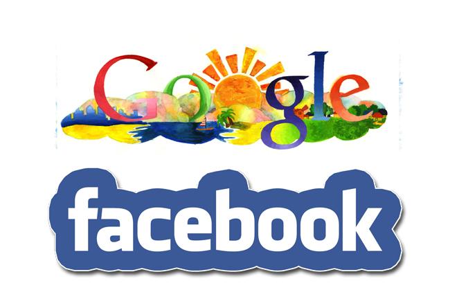 Logos de Google y Facebook