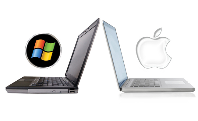 Laptop PC y MacBook