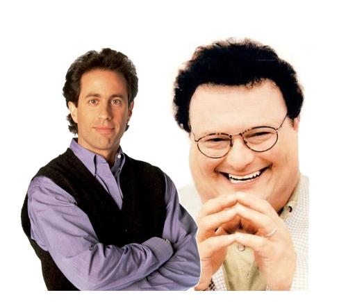 Jerry Seinfeld y su némesis Newman, el cartero