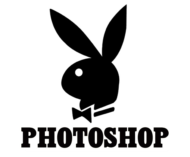 Logo de Playboy dice Photoshop en lugar de Playboy