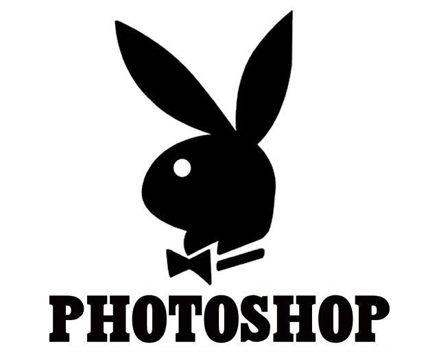 Logo de Playboy dice Photoshop en lugar de Playboy