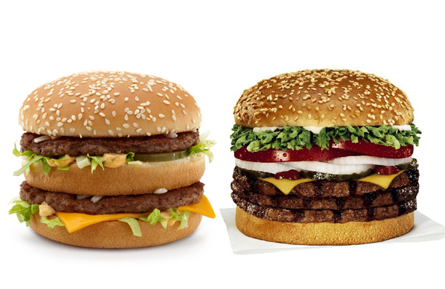 Whopper y Big Mac