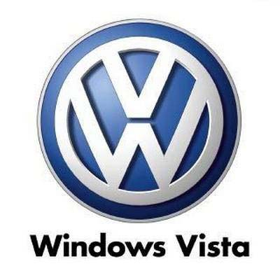 Logo de Volkswagen dice Windows Vista