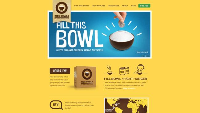 Homepage de Ricebowls