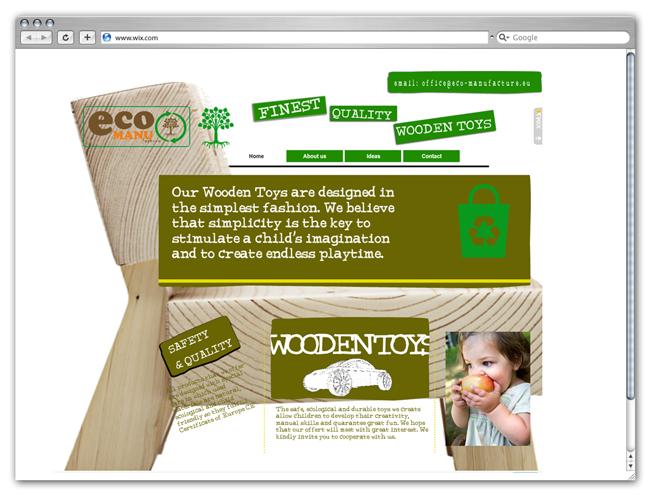 Página de Inicio de Juguetes EcoManu
