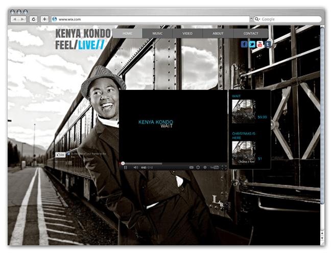 Página web Wix HTML5 de Kenya Kondo