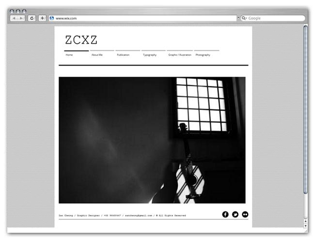 Sitio Wix HTML5 de Zan Cheong