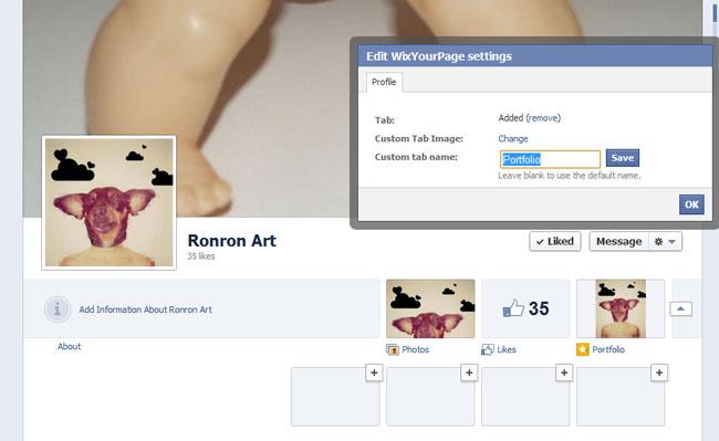 Ventana en Facebook que te permite cambiar el nombre de la aplicación