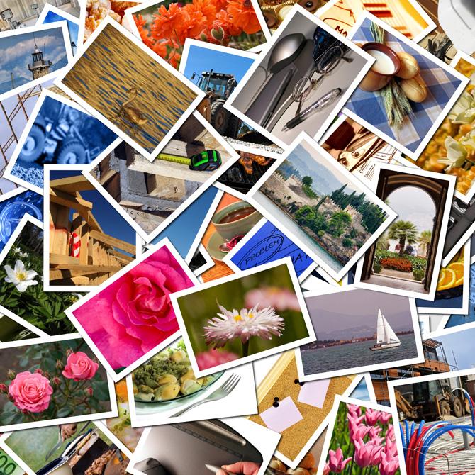 Collage con infinidad de fotos
