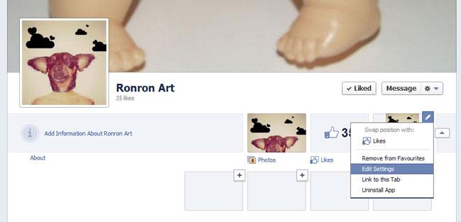 Sección de Favoritos en la nueva biografía de Facebook