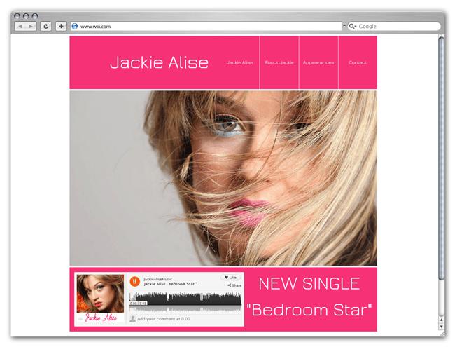 Página web Wix HTML5 de Jackie Alise