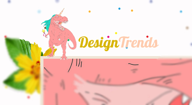 Logotipo de Dinosaurio Rosa con Cuerno