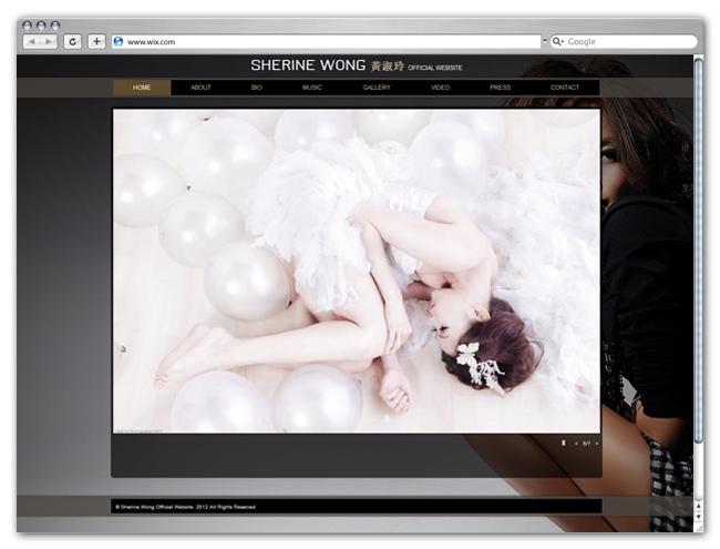 Sitio Wix de Sherine Wong