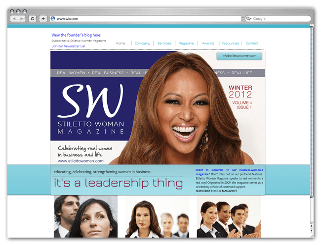 Sitio Web Wix HTML5 de Stilletto Revista Femenina