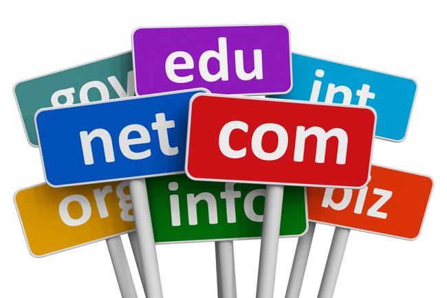 Varias terminaciones de dominios como .net .com .edu