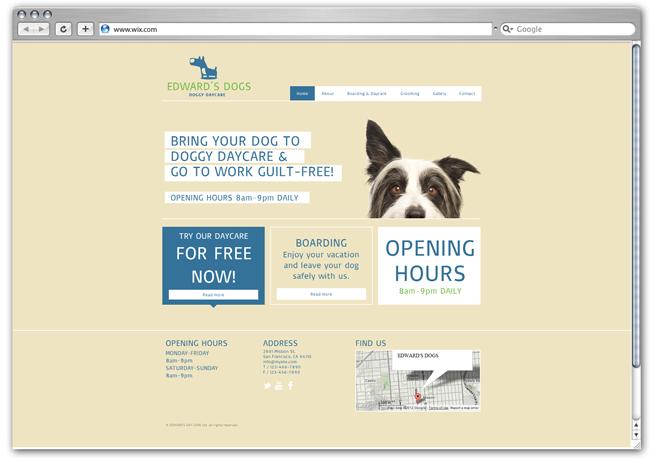 Plantilla para guardería canina
