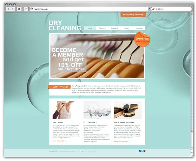 Plantilla para lavadero de ropa