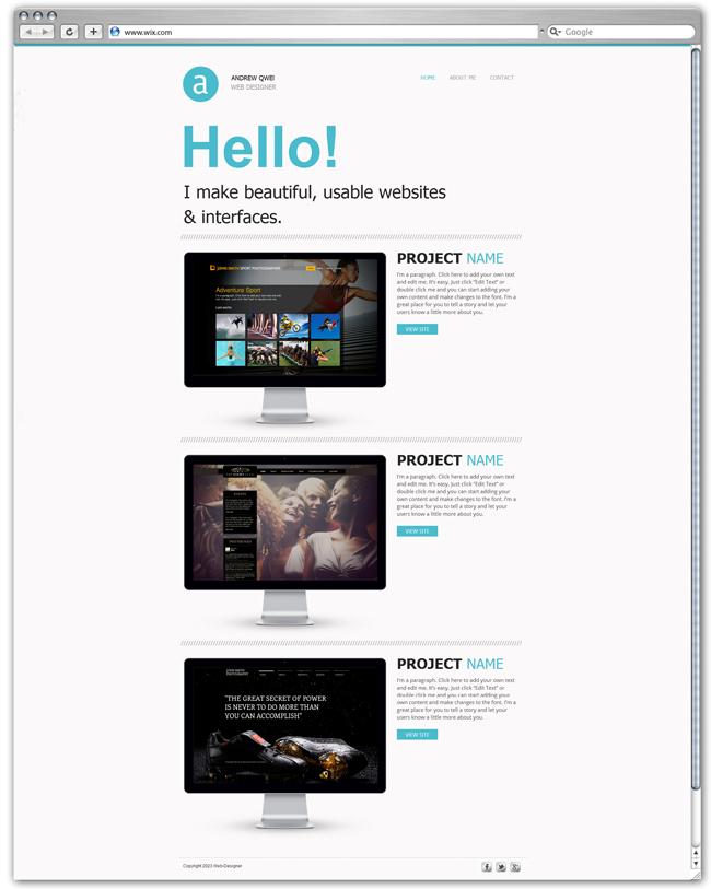 Plantilla para portfolio de páginas web