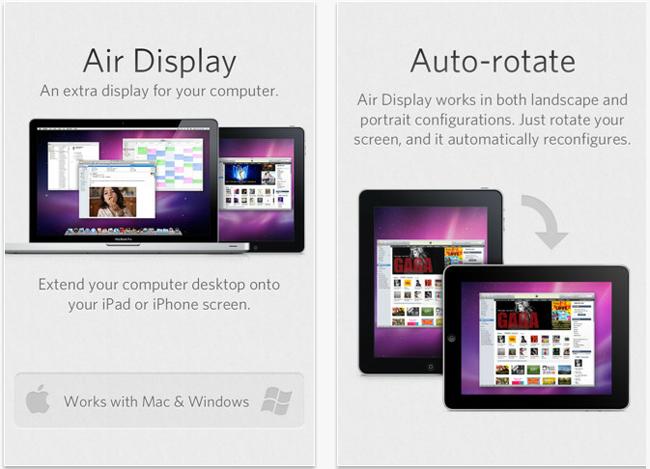 Ejemplo de como se ve un iPad como segundo monitor