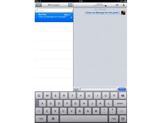 Aplicación iMessage de Apple