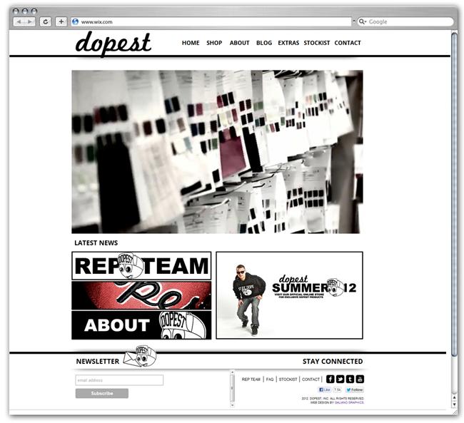 Página de Inicio de Dopest por Vinny Galiano