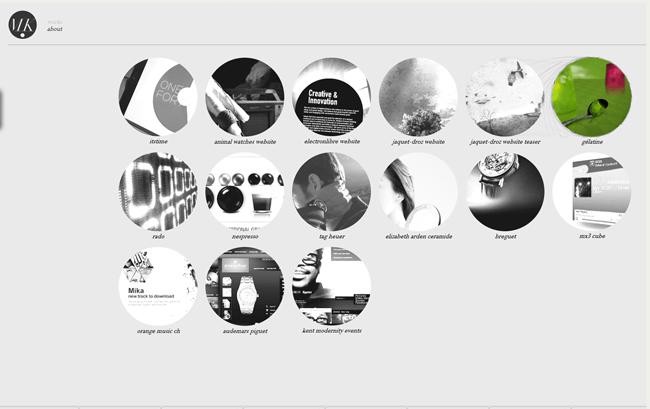 Sitio de Mickaël Larchevêqu Interactive Designer