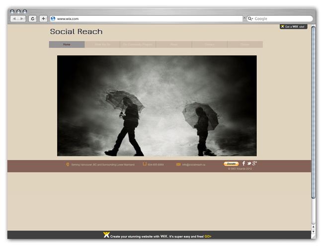 Página de Inicio de Social Reach por angeliq68