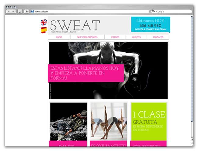 Sitio web de gimnasio