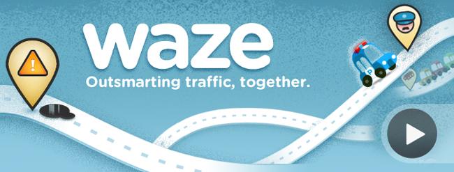 Logo de la aplicación GPS Waze