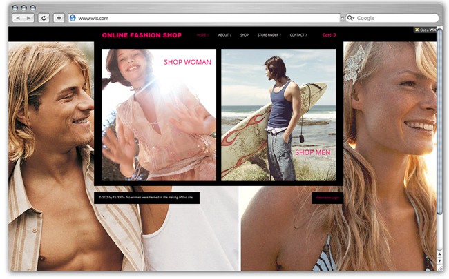 Plantilla Online Fashion Shop