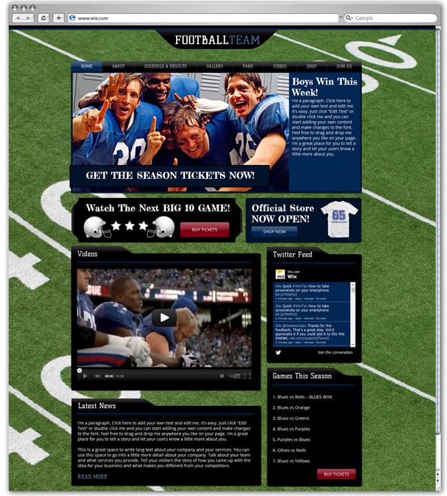 Plantilla Sports News