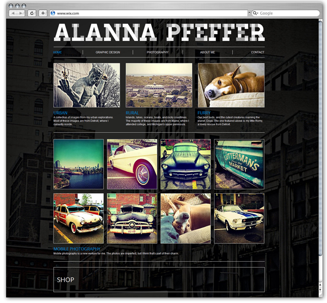 Alanna Pfeffer Diseñado por ampcreativedesign