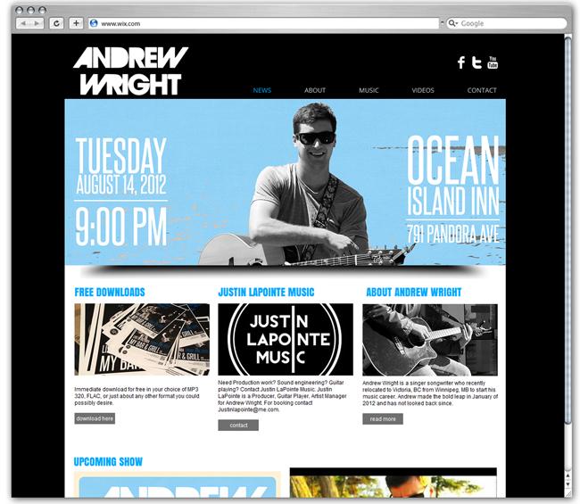 Sitio web de Andrew Wright Música