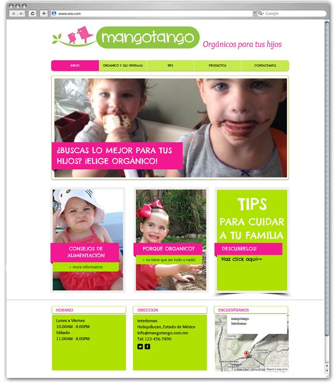 Sitio web de Mango Tango, México