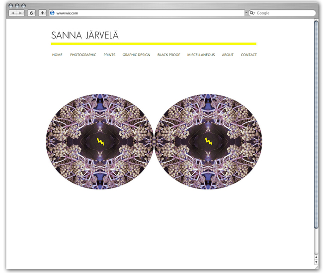 Sitio web de Sanna Jarvela, Finlandia