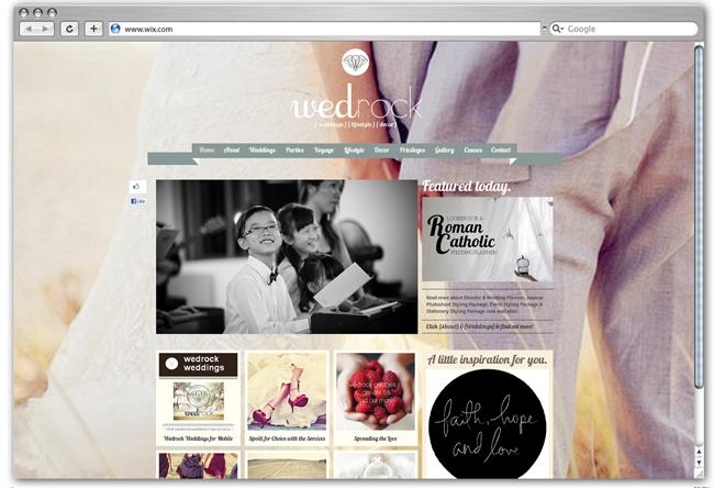 Sitio web de Wedrock Casamientos,  Singapur