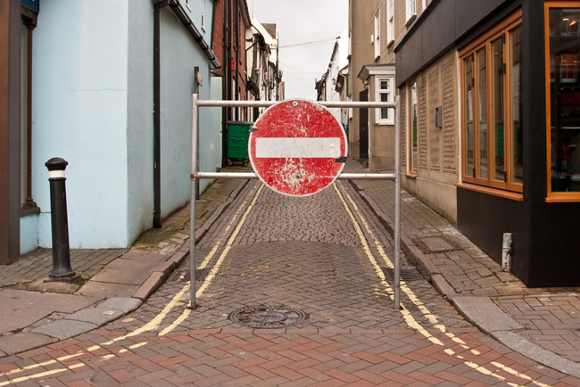 Calle restringida