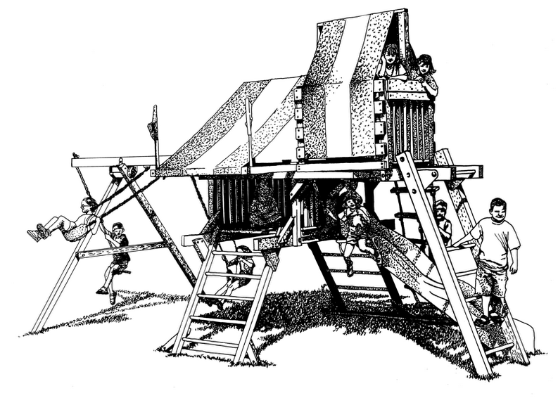 Ilustración de juegos de niños
