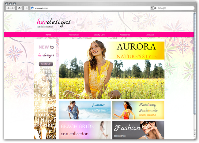Los sitios web de moda acostumbran a tener imágenes grandísimas, fotografías de lo que se vende directamente y tipografías grandes, pero en contra de lo que pueda parecer, implementar eso .