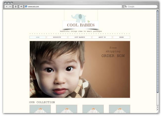 Plantilla Wix de Cool Babies