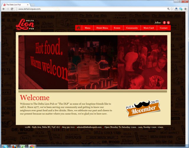 Página de inicio de deltalionpub.com